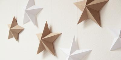 Ako vyrobiť papierové vianočné hviezdy